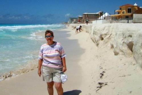 Beach erosion in Cancun (pic usurped from Trip Advisor, sorry)